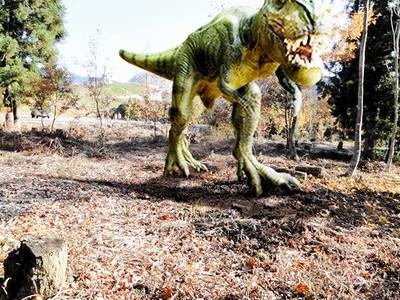 来春、屋外恐竜パークがオープン 実物大の造形24体