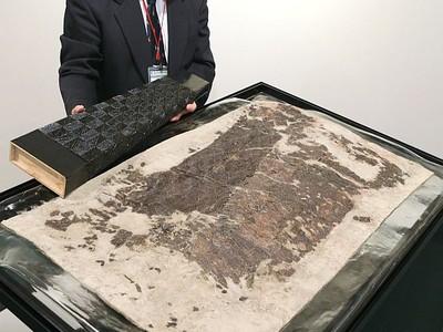 城の山古墳の謎探る 保存処理終えた靫初公開 7日、胎内でシンポ