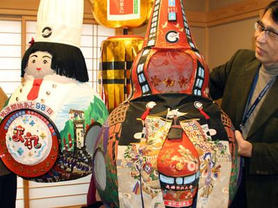 朝ドラ「まれ」愛らしく盛り上げ 金沢市の男性、かぶり物製作