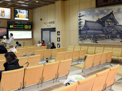 長野の玄関口、開放的な空間 新幹線改札内に新待合室