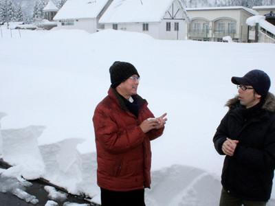 旧スキー場の雪をスクリーンに 24日、白山麓で映画上映会