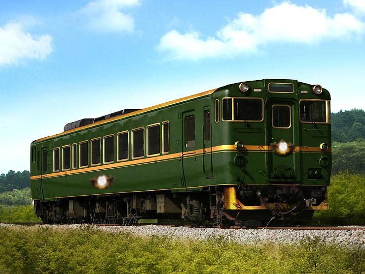 城端、氷見線に導入される特別列車の外観。貴婦人をイメージしたデザインになっている