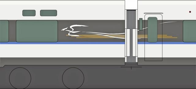 サンダーバードの車体側面にあしらわれるシンボルマークのイメージ図(JR西日本提供)