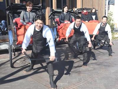 人力車走る飯田の街 市民グループ、3月21日スタート