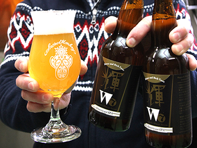 優しい苦味の地ビール開発 利賀そば祭りで先行発売