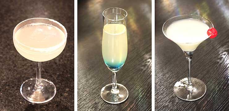 軽井沢プリンスホテルが延伸開業日の3月14日から提供する3種類のカクテル「はくたか」