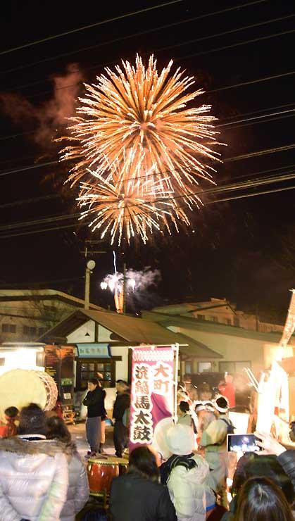 和太鼓と花火を同時に楽しんだ「夢花火と音の祭典」