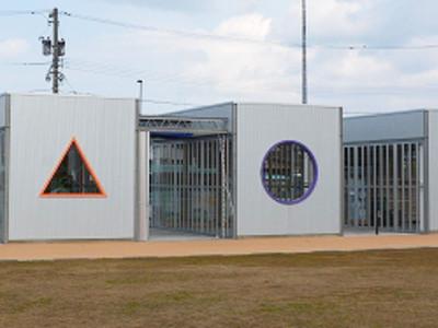 北陸新幹線待つ五つの箱 JR芦原温泉駅西側に「aキューブ」