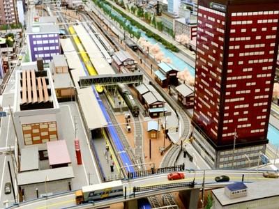 新幹線、越前市を走る!? 金沢開業記念 ジオラマ展