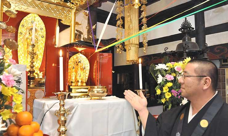 長谷寺にある善光寺本尊の分身仏