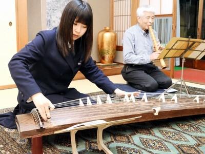 尺八奏者、箏の孫と共演 10日、福井県立音楽堂で演奏会