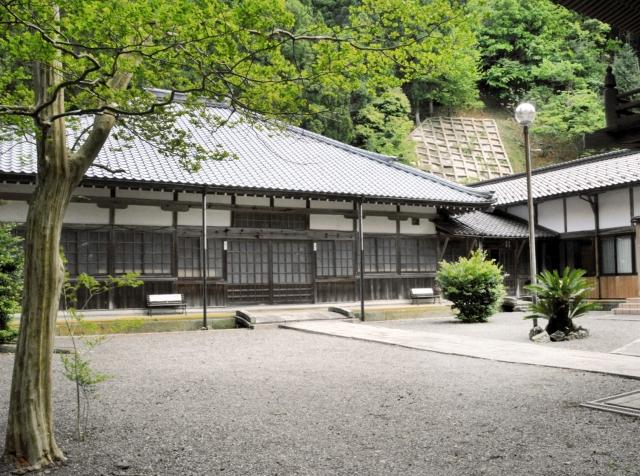 水戸天狗党の3人が葬られていたことが分かった徳賞寺=4日、福井県美浜町佐柿