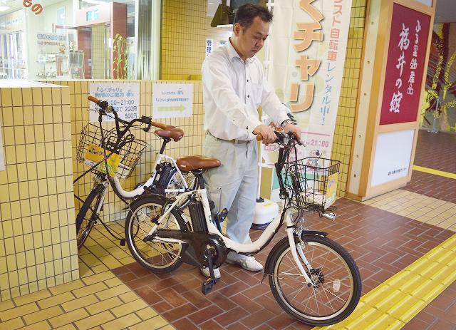 新たに「ふくチャリ」貸し出し場所となった福井市のフェニックス・プラザ
