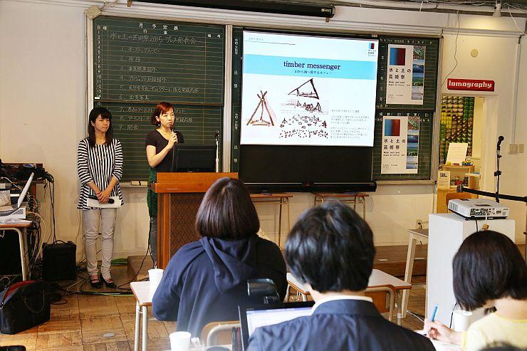 作家やディレクターらが企画を説明した「水と土の芸術祭」のプレス発表会=20日、東京都内