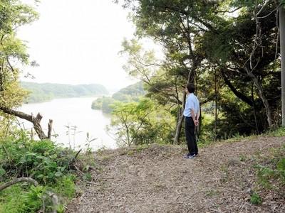 吉崎御坊の旧参道を復元 北潟湖の眺望も復活