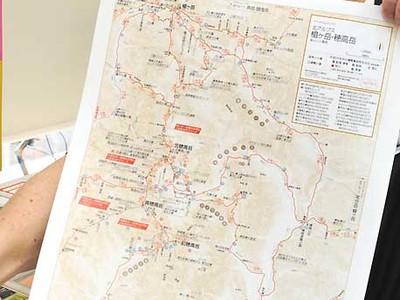 登山地図、コンビニで印刷 第1弾は北ア・中ア・八ケ岳