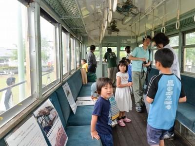 復興精神伝える「震災電車」公開 福井の公園、愛好団体催し