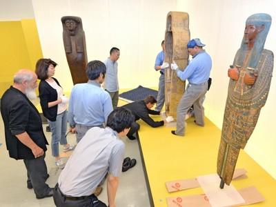 古代エジプト美術の秘宝続々 福井県立美術館、企画展開幕準備着々
