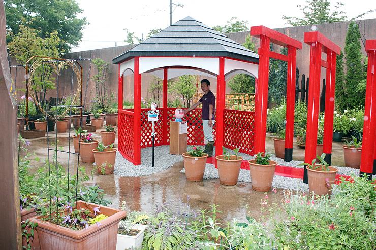 新しいパワースポットとして展示が始まった「チューリップの宮」=チューリップ四季彩館