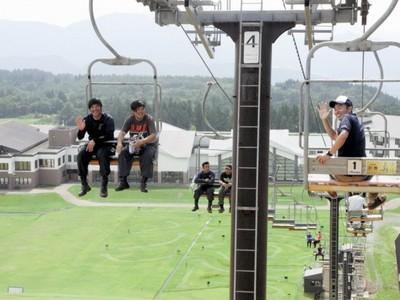 夏山リフトからの眺め最高  ジャム勝山、あすから運行
