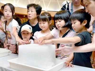 福井県児童科学館で「南極の氷」触れよう! 夏休み期間中