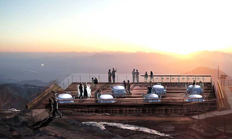 沈む夕日を眺望できる「SORAterrace(ソラテラス)」のイメージ図