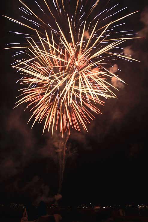色とりどりの花火が打ち上がったフェスティバル