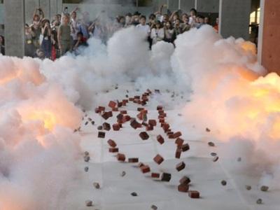 炎と煙前夜祭熱く 大地の芸術祭開催中 十日町