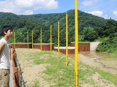 「大地の芸術祭」開催中 現代アートに熱視線 砂防ダム現場も作品に