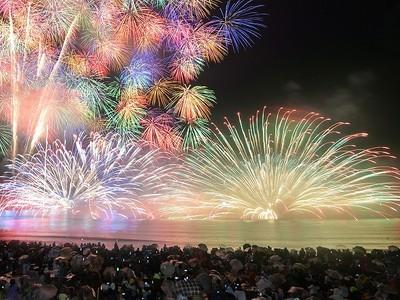 11日に三国花火 水中花火や芸術玉...7000発 坂井・サンセットビーチ