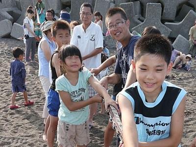 [夏休みローカル線の旅]大潟区(上越市) 地引き網、味覚海満喫