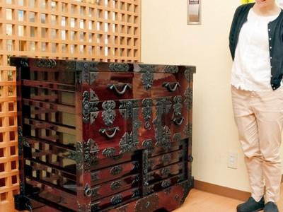 200年前の越前箪笥を再現 指物組合理事長が展示