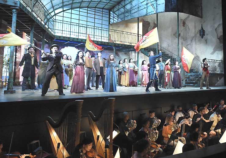 オペラ「ベアトリスとベネディクト」の通し稽古