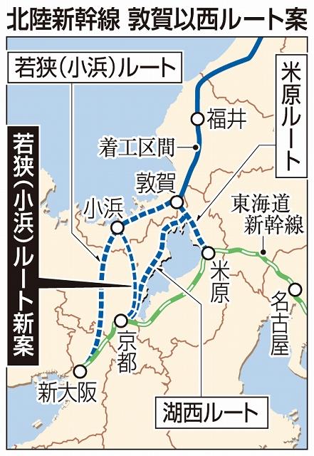 北陸新幹線敦賀以西ルート案