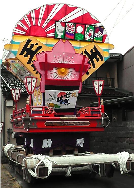 ことしの岩瀬曳山車祭で巡行された財町の山車