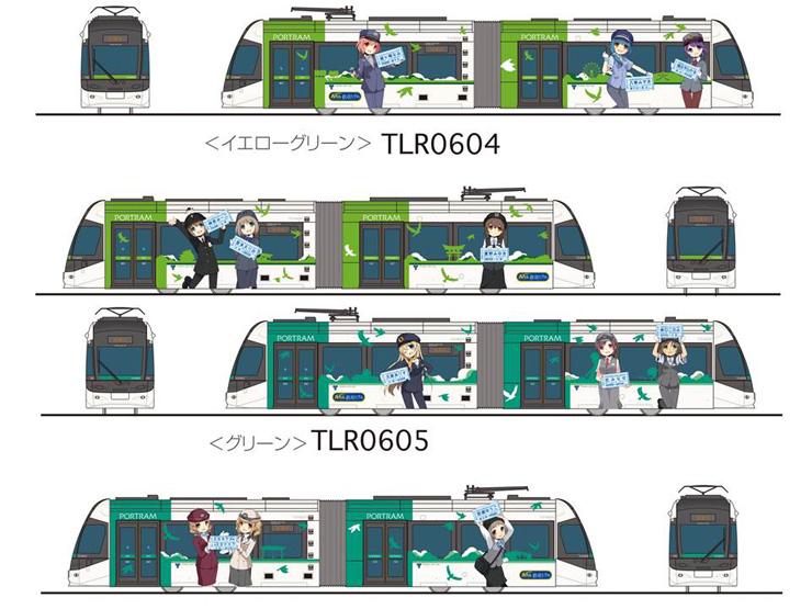 「鉄道むすめ」電車のイメージ図