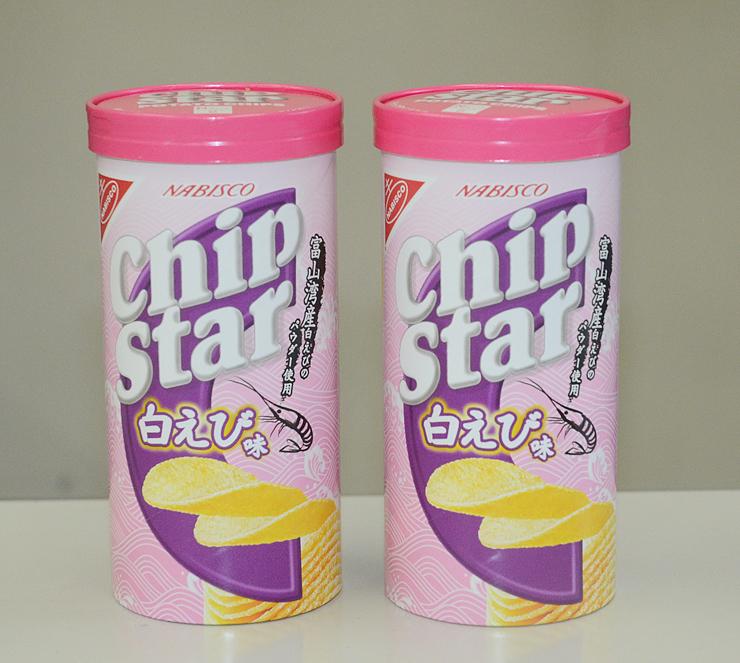 スナック菓子「チップスター 白えび味」