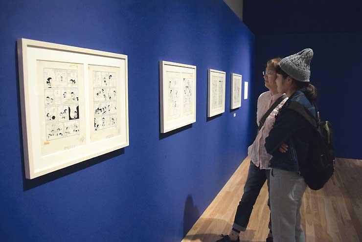 会場に展示された故藤子・F・不二雄さんの原画