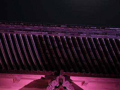 金沢城と真ん丸競演 中秋の名月