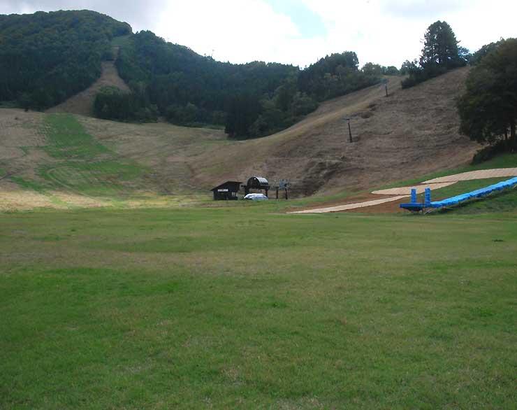 野沢温泉スキー場の日影ゲレンデ。野沢温泉村が人工芝のゲレンデなどを整備する計画だ=28日