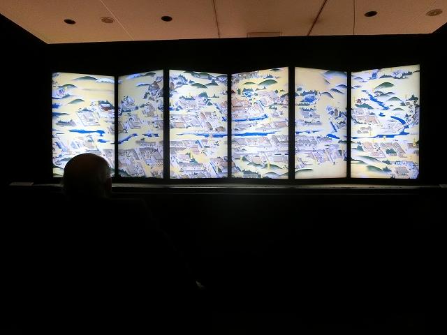 福井県福井市一乗谷の城下町の様子を再現したコンピューターグラフィックス映像