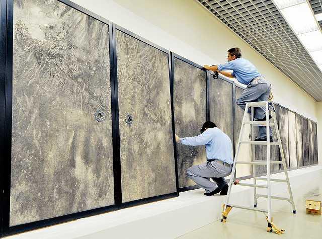 開幕を控え着々と準備が進む「大永平寺展 禅の至宝、今ここに」=30日、福井市の県立美術館