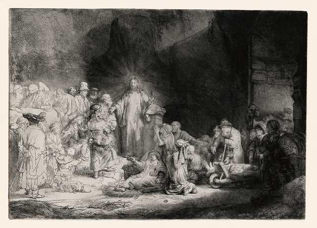 「病人たちを癒すキリスト」(1648年ごろ)=27.8×38.8センチ