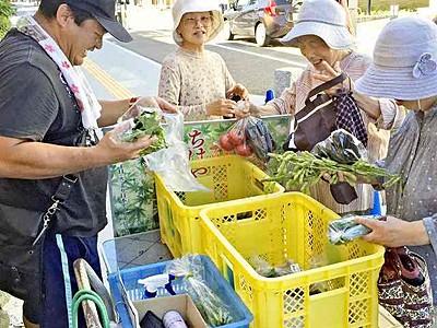 芦原温泉街で収穫祭 31日に初開催 朝採れ野菜、工芸品7店