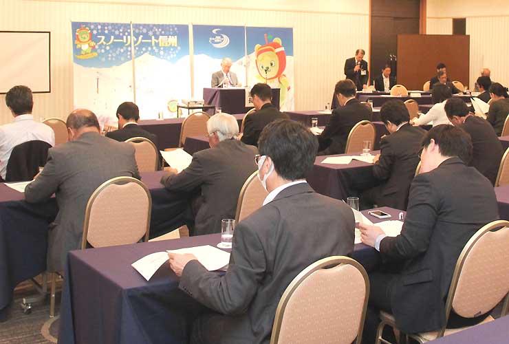「スノーリゾート信州」プロモーション委員会が長野市内で開いた総会