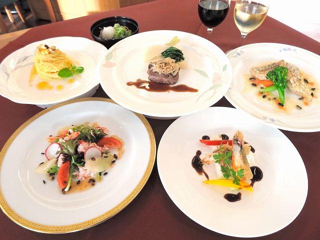 福井県産食材を使った特別ディナー=大阪市北区のレストラン「エルガーデン」