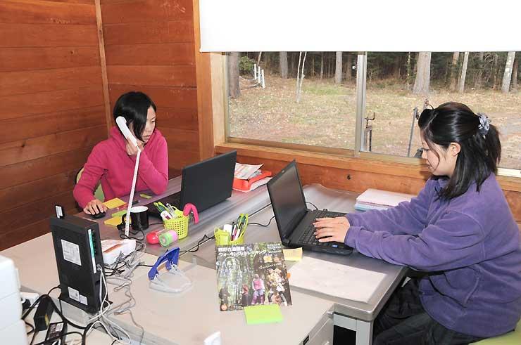 木曽町開田高原にできた「木曽おんたけ健康ラボ」の事務所