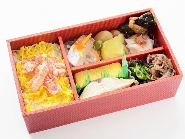 北陸新幹線グランクラスで出されている福井県産品を使った和軽食(JR西日本金沢支社提供)