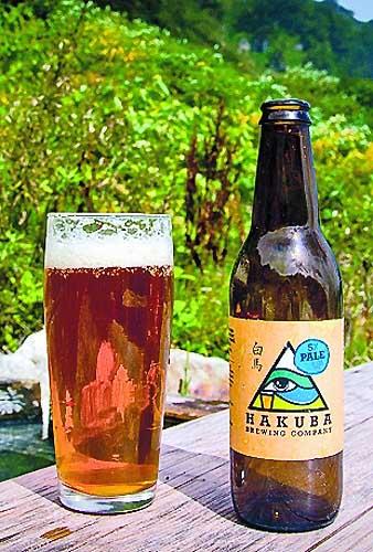 今月末発売予定の白馬村の地ビール