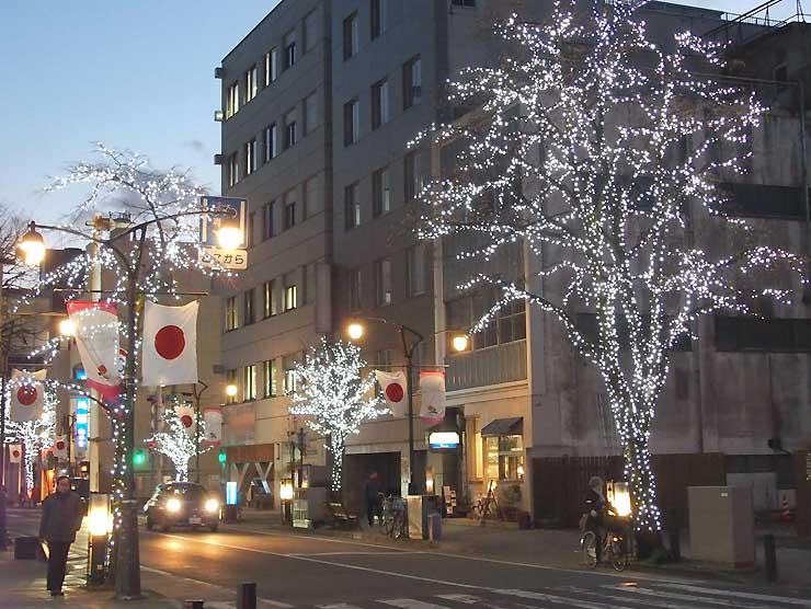 「ICE・BAR三の丸」が予定される松本城南側の交差点付近。当日はテーブルなどを置く